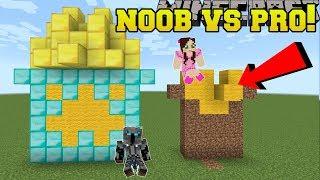Minecraft: NOOB VS PRO!!! - BUILD BATTLE WITH 3 BLOCKS! - Mini-Game