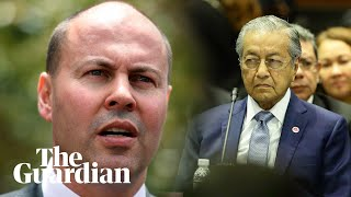 Embassy move: Frydenberg accuses Malaysian PM of antisemitism