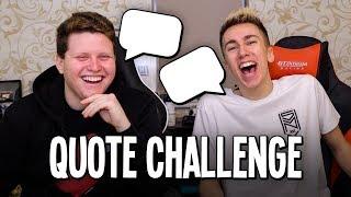THE SIDEMEN QUOTE CHALLENGE!