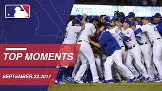 Dodgers clinch NL West, plus nine more moments from around the Majors: 9/22/17