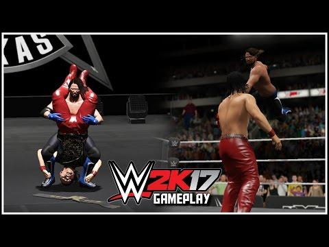 WWE 2K17 - BREAKOUT STYLES CLASH - AJ Styles vs Nakamura Gameplay Part 1 (Champion Breakout & More!)
