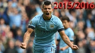 Sergio Aguero | All 32 Goals and 8 Assists | 2015/2016 | HD