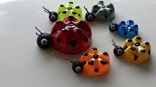 Recycled Art Ideas for Kids: Ladybug's Family from Plastic Bottles   DIY Recycled Bottles Crafts