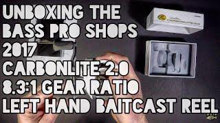 Unboxing The Bass Pro Shops 2017 Carbonlite 2.0 8.3:1 Gear Ratio Left Hand Baitcast Reel