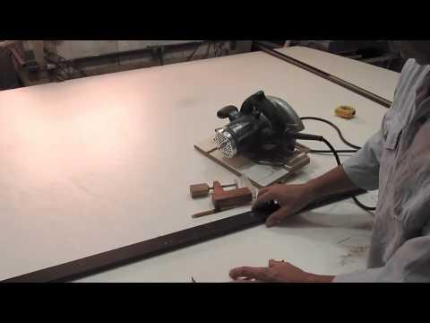 Serra circular manual nos trilhos Baixo custo de fabricação