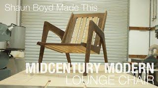 Building a Mid-century Modern Lounge Chair - Shaun Boyd Made This