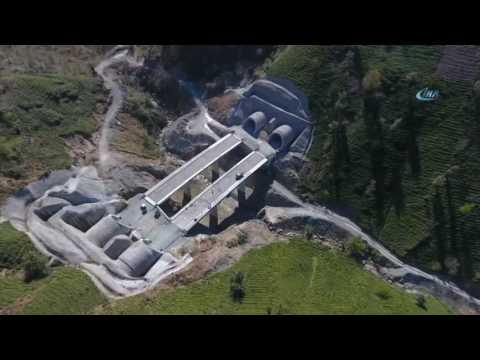 Cankurtaran Tüneli'nde Çalışmalar Havadan Görüntülendi