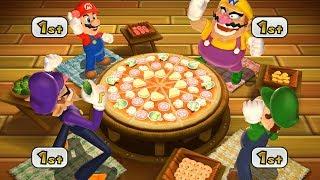 Mario Party 9 Step It Up - Mario vs Wario vs Waluigi vs Luigi Master Difficulty  Cartoons Mee