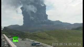 В Японии началось извержение вулкана Асо
