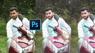 Photoshop cc Tutorial - How to Change the Background Colour Easily! Outdoor Photo