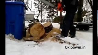 Oxipower 58cc chainsaw demo