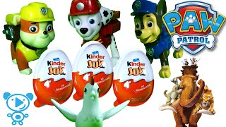 Paw Patrol & Surprise Eggs Kinder Joy Ice Age Toys #PawPatrol  & #Chickaletta #kids #cartoon 4K