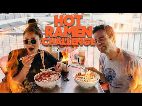 Spicy Noodle CHALLENGE with Ian Harding MUKBANG Shay Mitchell