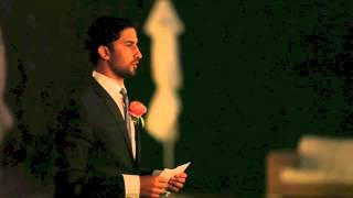 Tal i världsklass av best man Makan Amini