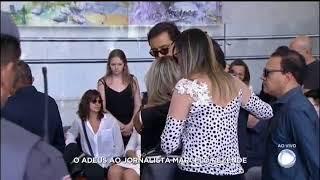 GERALDO LUÍS CHEGA AO VELÓRIO DO JORNALISTA MARCELO REZENDE - (17/09/2017)