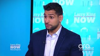 Amir Khan: Hillary Clinton helped me avoid U.S. airport profiling | Larry King Now | Ora.TV
