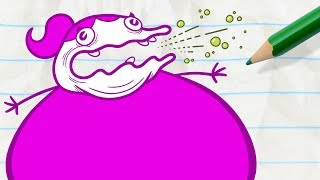Pencilmate Gets Burped On! -in- LOVE BURPS - Pencilmation Cartoons
