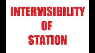 Intervisibility of station   advance survey   #rupesh verma
