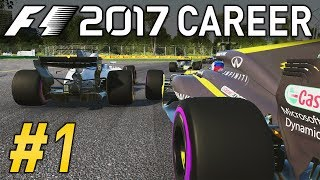 F1 2017 CAREER MODE PART 1 | NEW GAME, NEW SEASON! | RENAULT