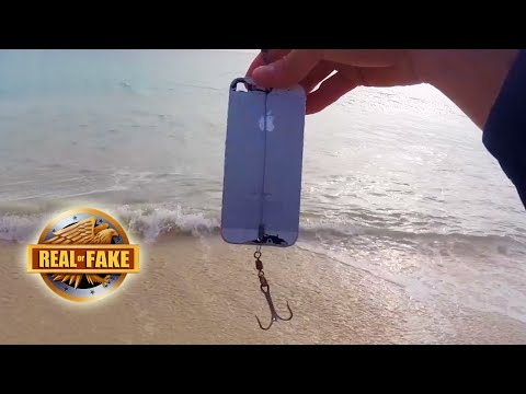 GUY CATCHES FISH WITH IPHONE real or fake