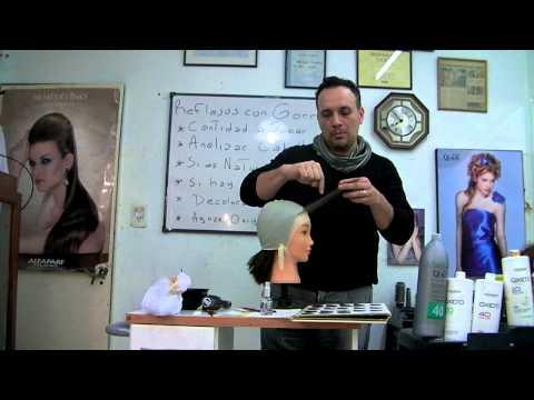 Técnica paso a paso como hacer reflejos con gorra