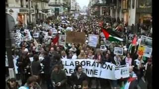 Gaza under fire;Paris civilians demonstrate Israel war criminals in Gaza