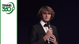 Alexander Zverev gives brilliant introduction to Roger Federer at Laver Cup gala