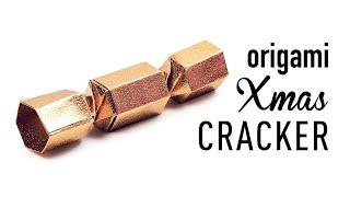 Origami Christmas Cracker Gift Box Tutorial ♥︎ DIY ♥︎