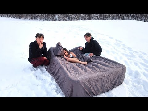 HOT GIRLFRIEND WAKES UP IN SNOW PRANK