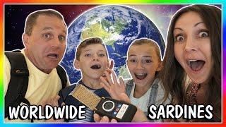 SARDINES AROUND THE WORLD! | HIDE AND SEEK | We Are The Davises