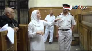 ياسمين النرش أمام المحكمة