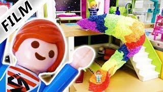 Playmobil Film Deutsch - SPIRALRUTSCHE DURCH LUXUSVILLA! JULIANS GRANDIOSE IDEE! Familie Vogel