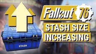 FALLOUT 76: Bethesda Promises Increased STASH SIZE!! (B.E.T.A. Thank You and Addressing Feedback)