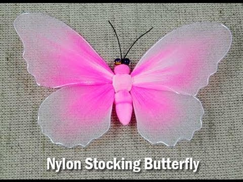 Handmade DIY Nylon Stocking Butterfly Showcase From New Sheer Creations