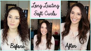Long Lasting Soft Curls Hair Tutorial & GlamPalm Flat Iron Review