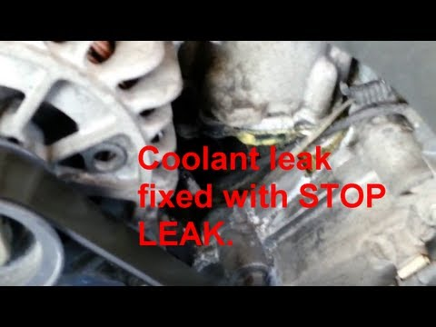 Coolant leak fixed with STOP LEAK (Bars Leaks) on a Ford, Lincoln 4.6l engine.