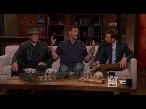 Talking Dead Karl Makinen Richard on his final scene with Lennie James Morgan