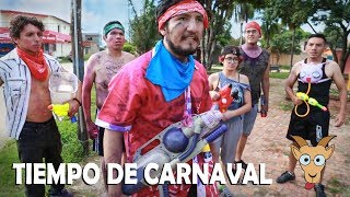 Sketch - Tiempo de carnaval - Chisguete agua y pintura - batalla epica