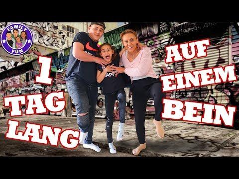 1 TAG LANG auf EINEM BEIN 😲 verletzt und Tablet kaputt Family Fun
