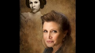 Carrie Fisher Memorial Portrait | Funeral Service Video