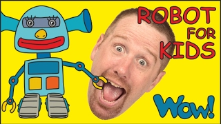 Robot for Kids playing with Steve and Maggie | English stories for Children | Wow English TV