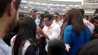 Salman Khan @ Dy patil Stadium ||Celebrity Cricket League||