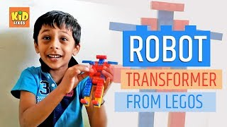 Small Indian Boy Making Transformer Robot from Lego Pieces | Funny Spoken English