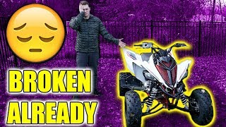I BROKE MY NEW QUAD ALREADY..  (RAPTOR 700R SE)