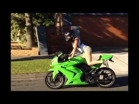 Video Cewek Sexy Naik Motor Ninja Kawasaki 250R