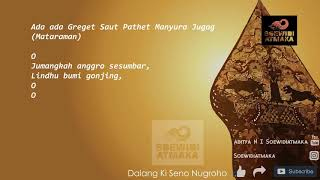 Latihan Suluk Mataraman: [13] Ada-Ada Pathet Manyura Jugag Ki Seno Nugroho (Jumangkah anggro)