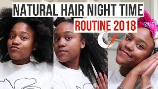 Natural Hair Night Time Routine 🌙 for Long Type 4 Hair