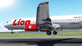 Lion Air Boeing 737 Pilot Make Bounce Landing [XP11]