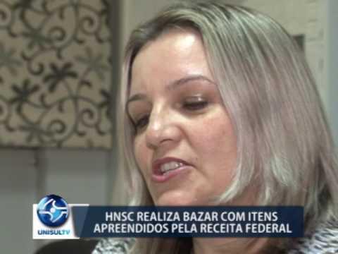 HNSC realiza bazar com produtos apreendidos pela receita federal