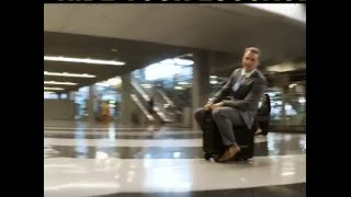 Now Ride your suitcase around the airport--Amazing